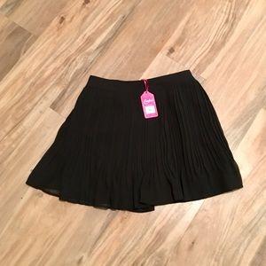 Candies black tie flirty pleated skirt